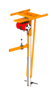 Overhead Mounted Vertical Mast Arm