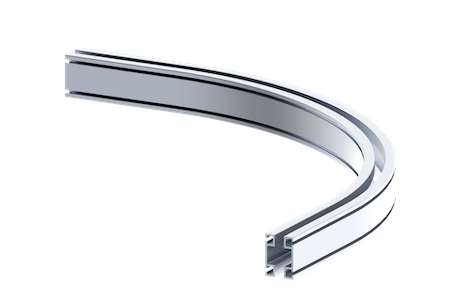 rad4112 curved aluminum rail
