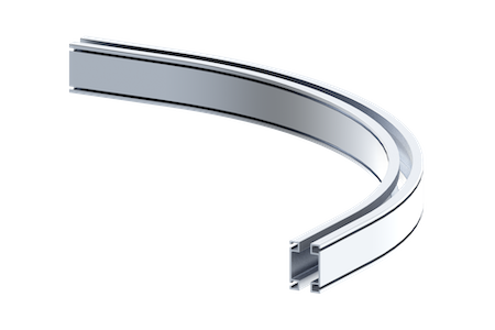 rad6112 curved aluminum rail